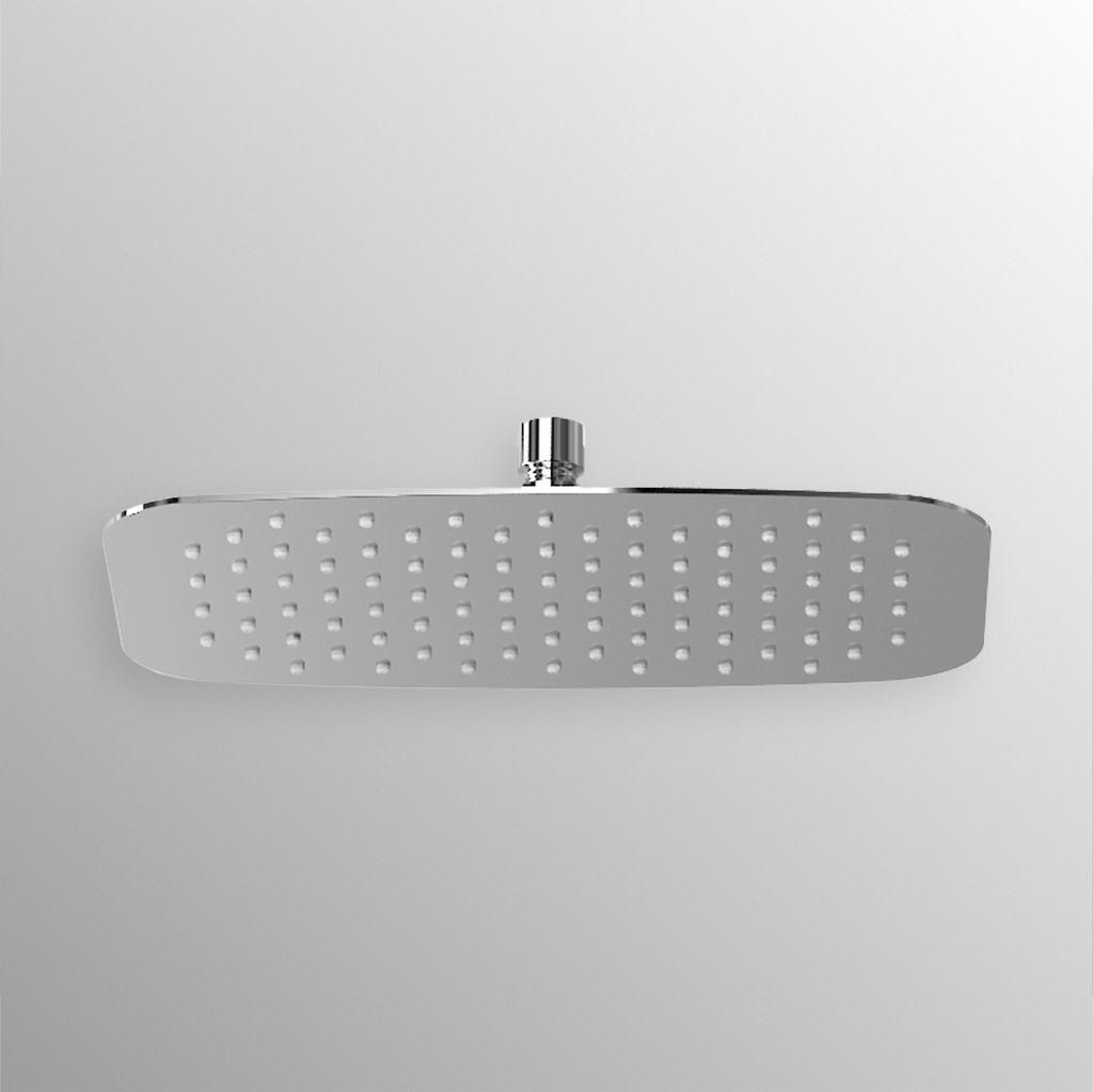 Soffione rettangolare ultrasottile 400x250mm