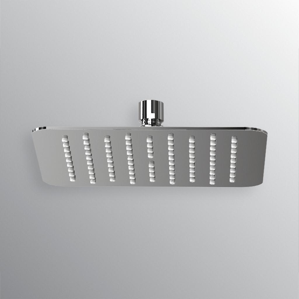 Soffione quadrato ultrasottile 400x400mm