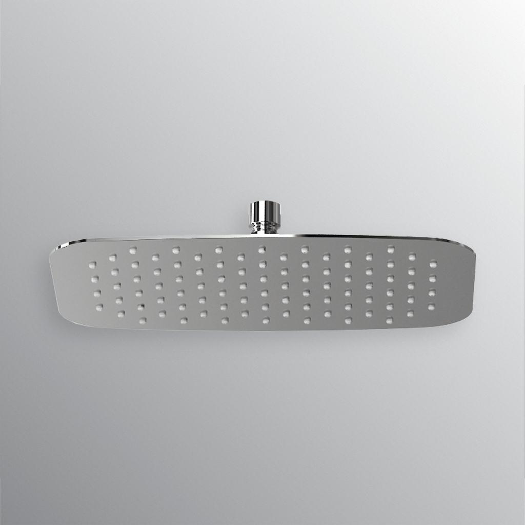 Soffione rettangolare ultrasottile 300x200mm