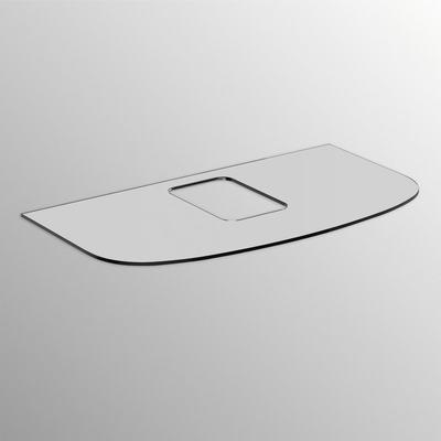 Top in vetro per lavabi da appoggio 100cm senza foro