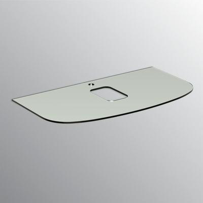 Top in vetro per lavabi da appoggio 60cm con foro
