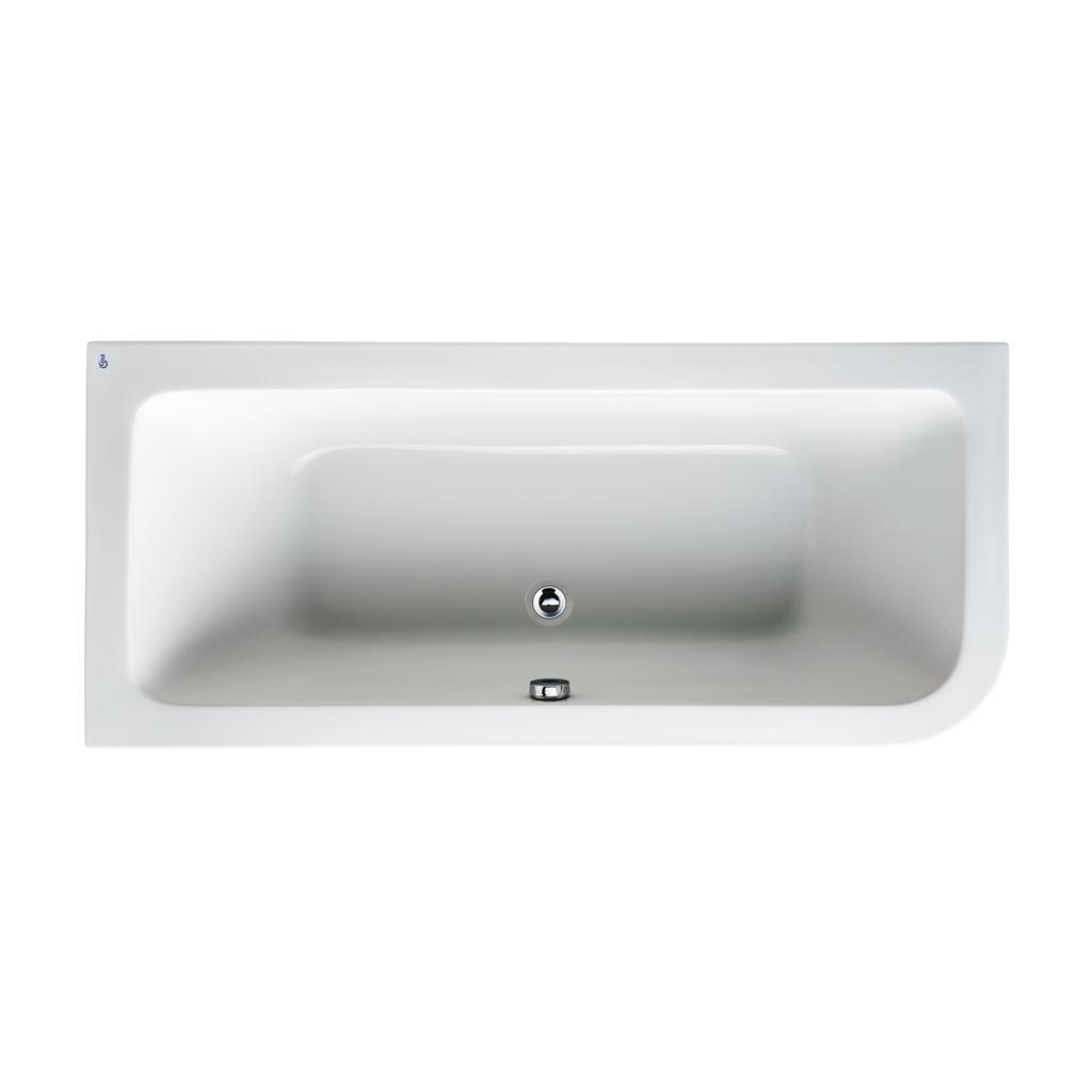 170 x 75cm Asymmetric Idealform Bath Left Hand with no tapholes
