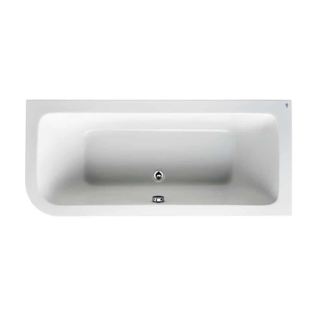 170 x 75cm Asymmetric Idealform Bath Right Hand with no tapholes