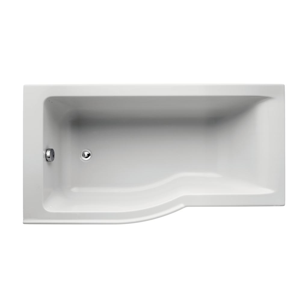 150 x 80cm Idealform Plus+ Shower Bath Left Hand with no tapholes