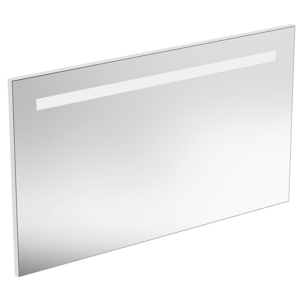 Specchio rettangolare con luce a LED superiore integrata
