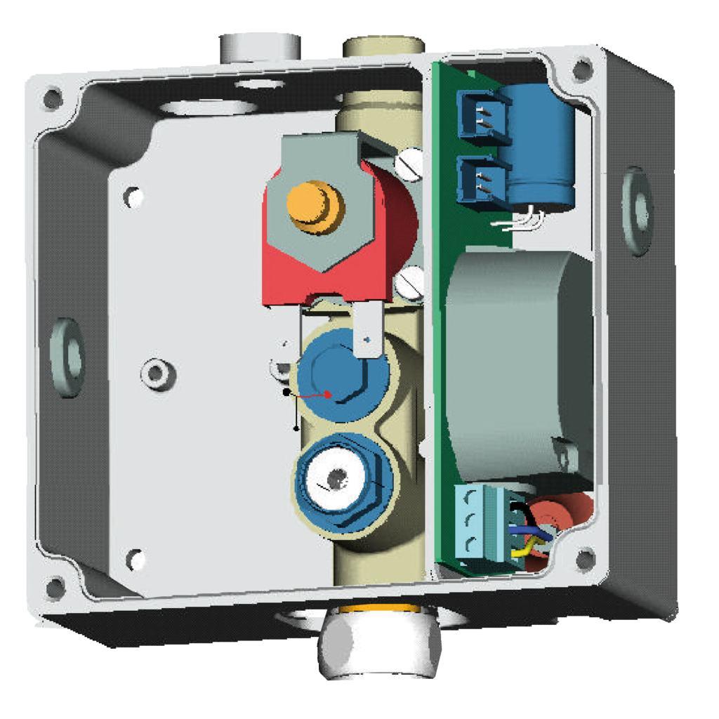 PROXIMITY CERAPLUS Электронный встраиваемый комплект для инфра-красного подключения для умывальника/душа, от сети 220V, один клапан