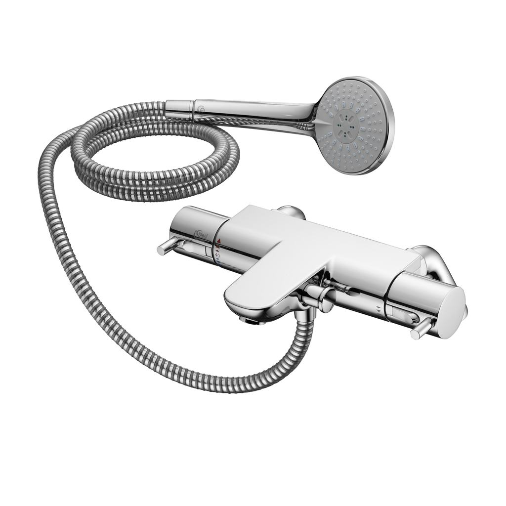 Thermostatic Two Hole Bath Shower Mixer with Lever Handles