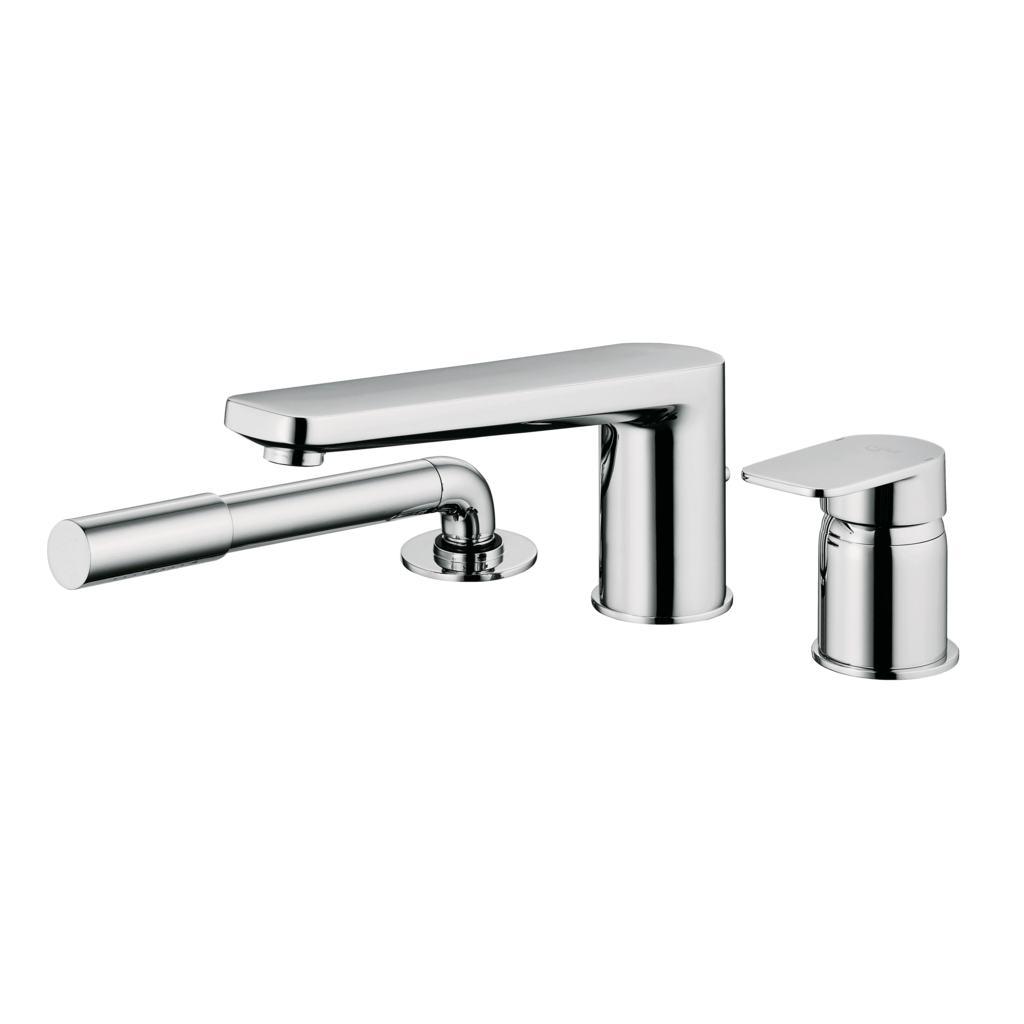 3 hole Single Lever bath shower mixer with spout