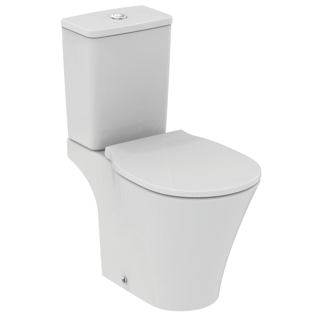 cube close coupled cistern with dual flush valve - 6/4 litre