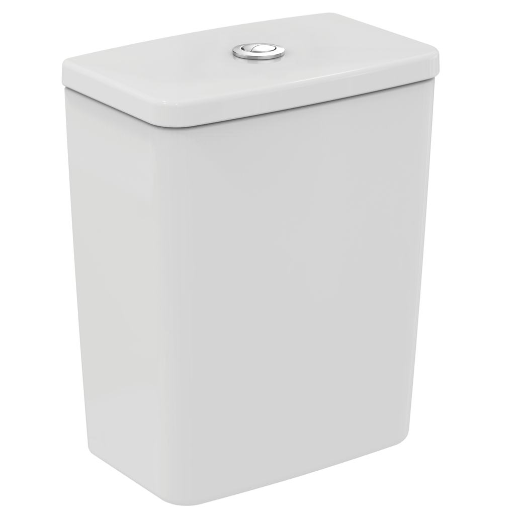 cube close coupled cistern with dual flush valve - 4/2.6  litre
