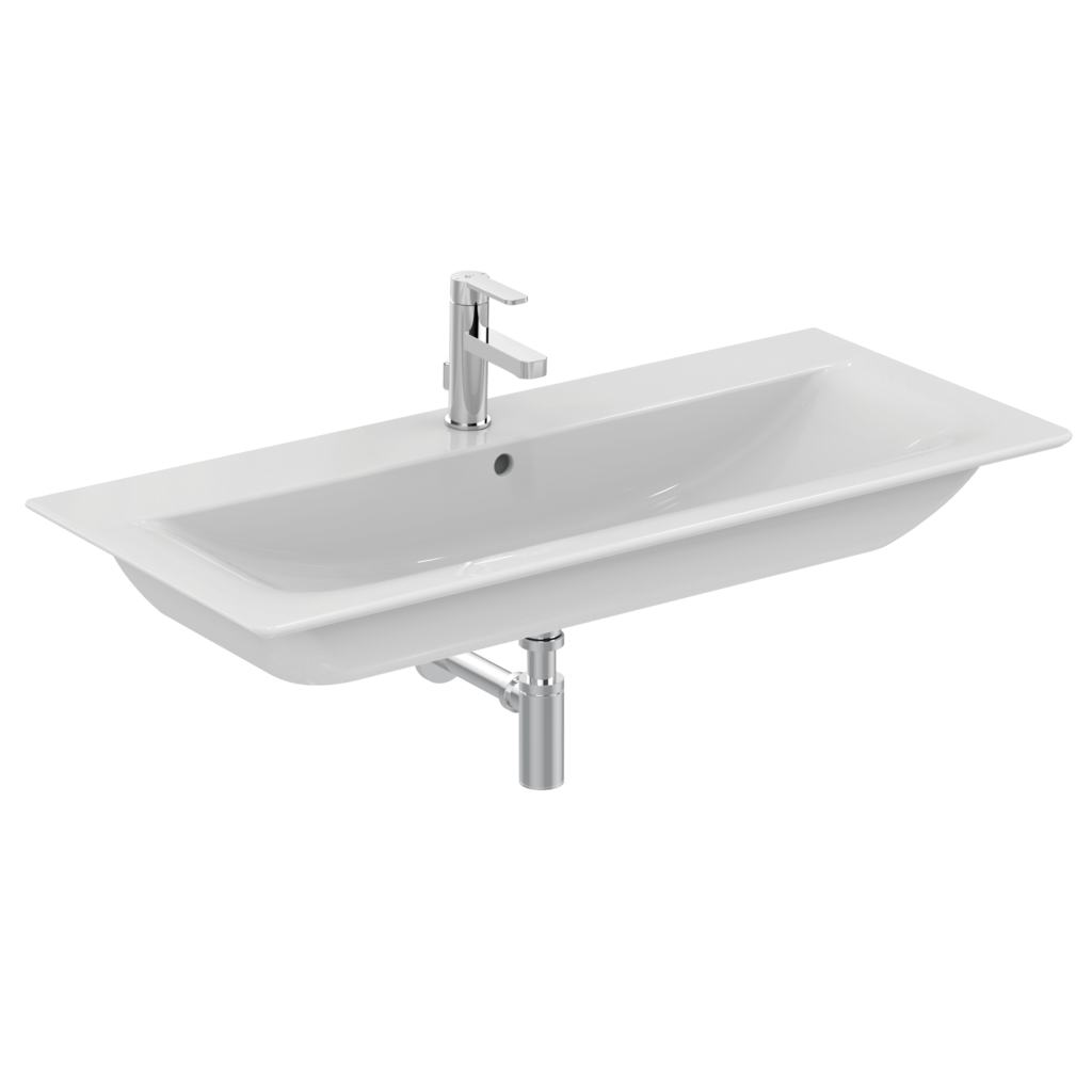 Product details: E0752 | 104cm Vanity basin - one taphole | Ideal ...