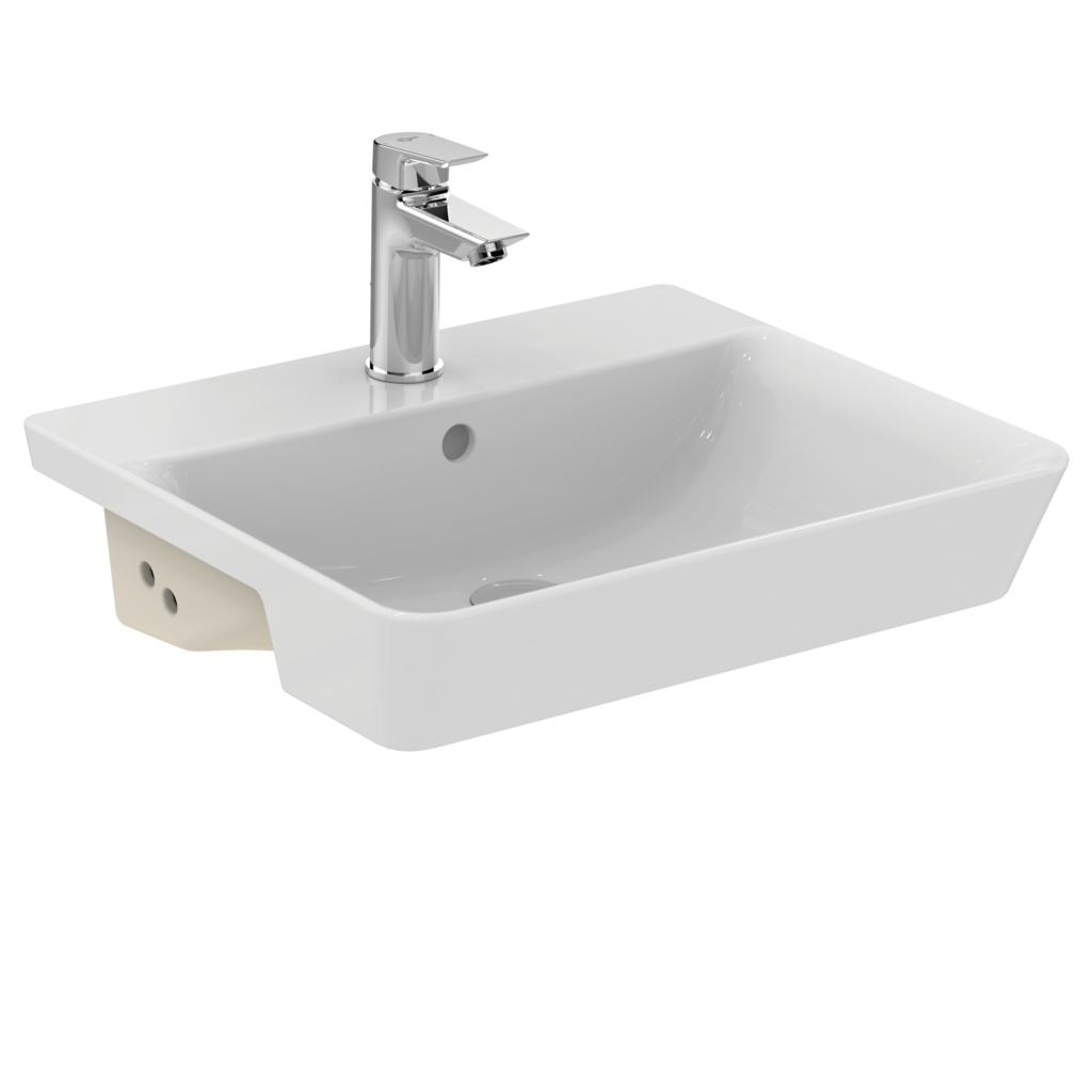 Cube 50cm semi-countertop basin - one taphole