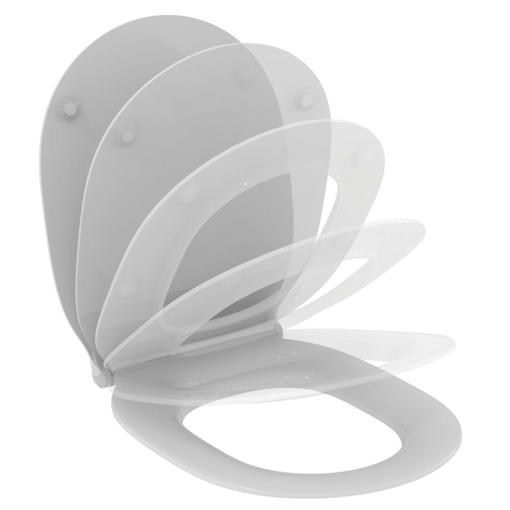 CONNECT AIR Тонкое сидение и крышка, с функцией плавного закрытия, дюропласт