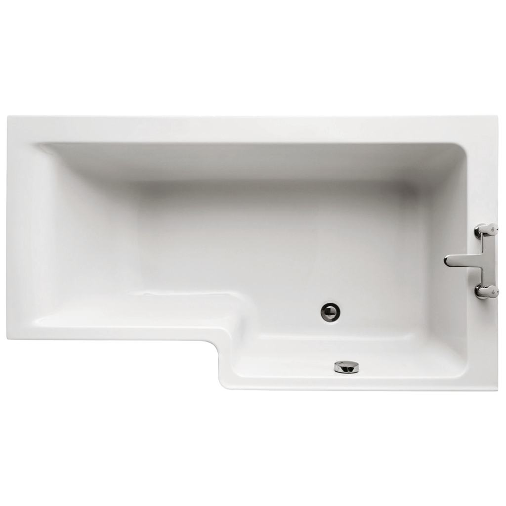 150cm Idealform Plus+ Shower Bath, Right hand