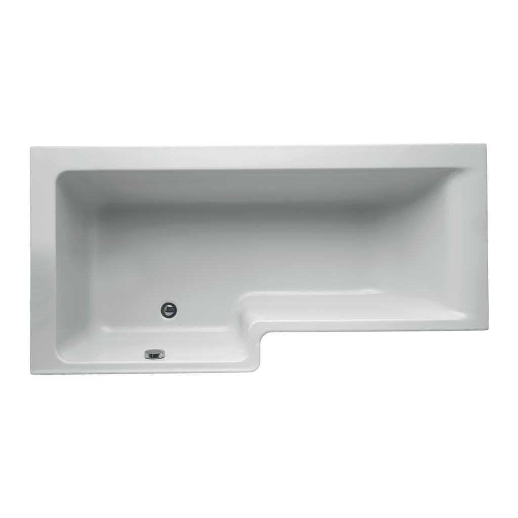 170cm Shower Bath, Left hand