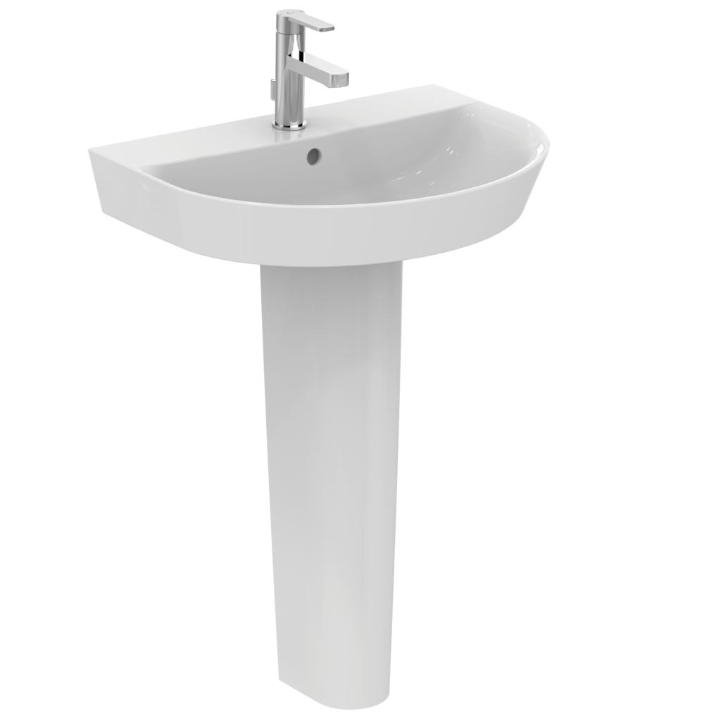 Arc 60cm pedestal basin - one taphole