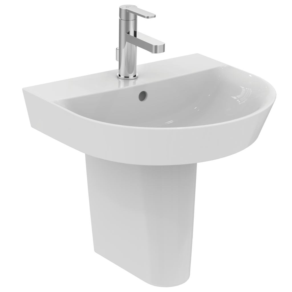 Arc 50cm pedestal basin - one taphole