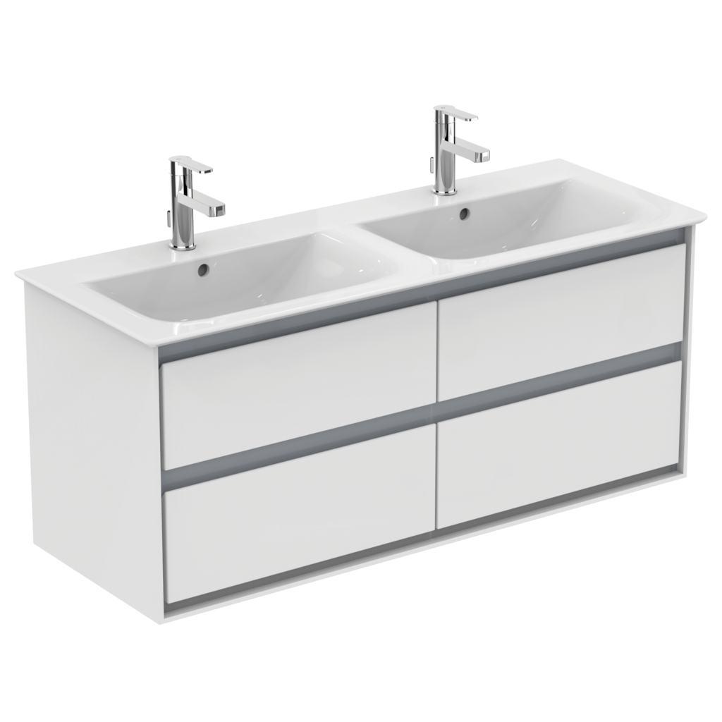 124cm Vanity double basin - one taphole