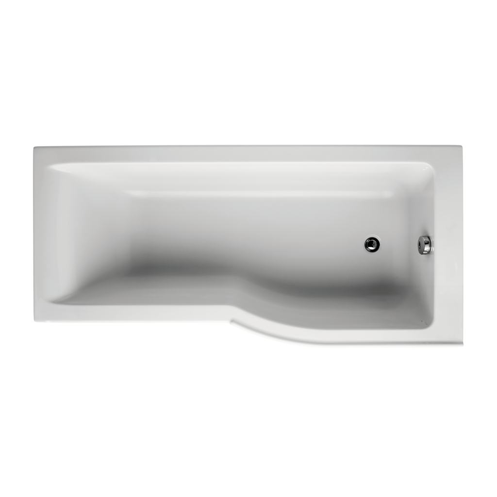 170x80cm Idealform Shower Bath - Right Hand