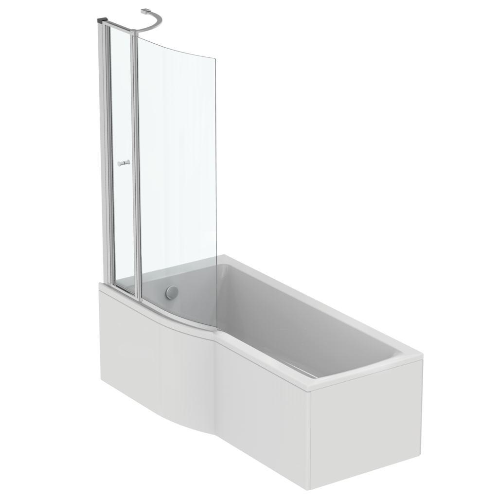Concept Shower Bath product details: e1081 | 170x80cm idealform shower bath - left hand