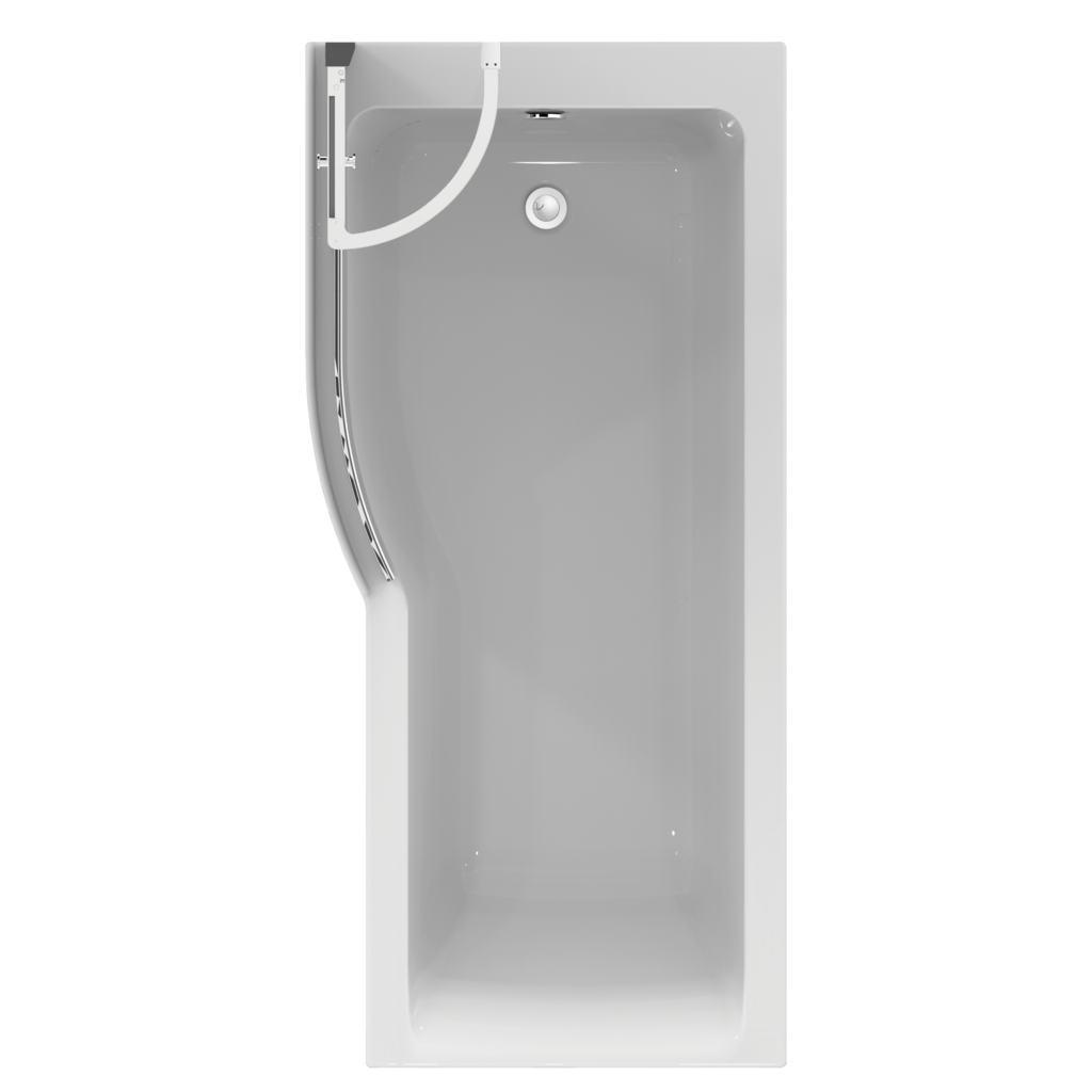 Idealform Plus+ 170x80cm Shower Bath - Left Hand