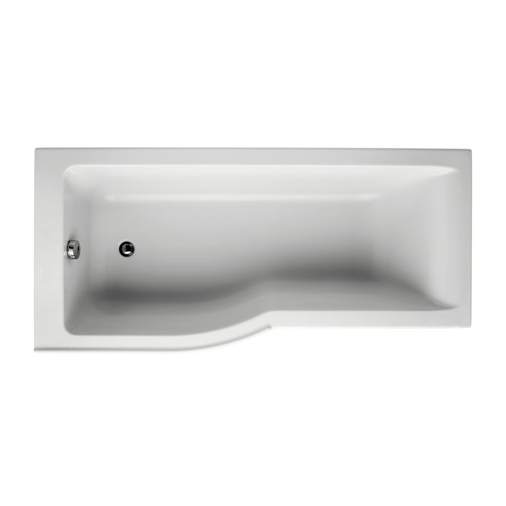 170x80cm Idealform Plus+ Shower Bath - Left Hand