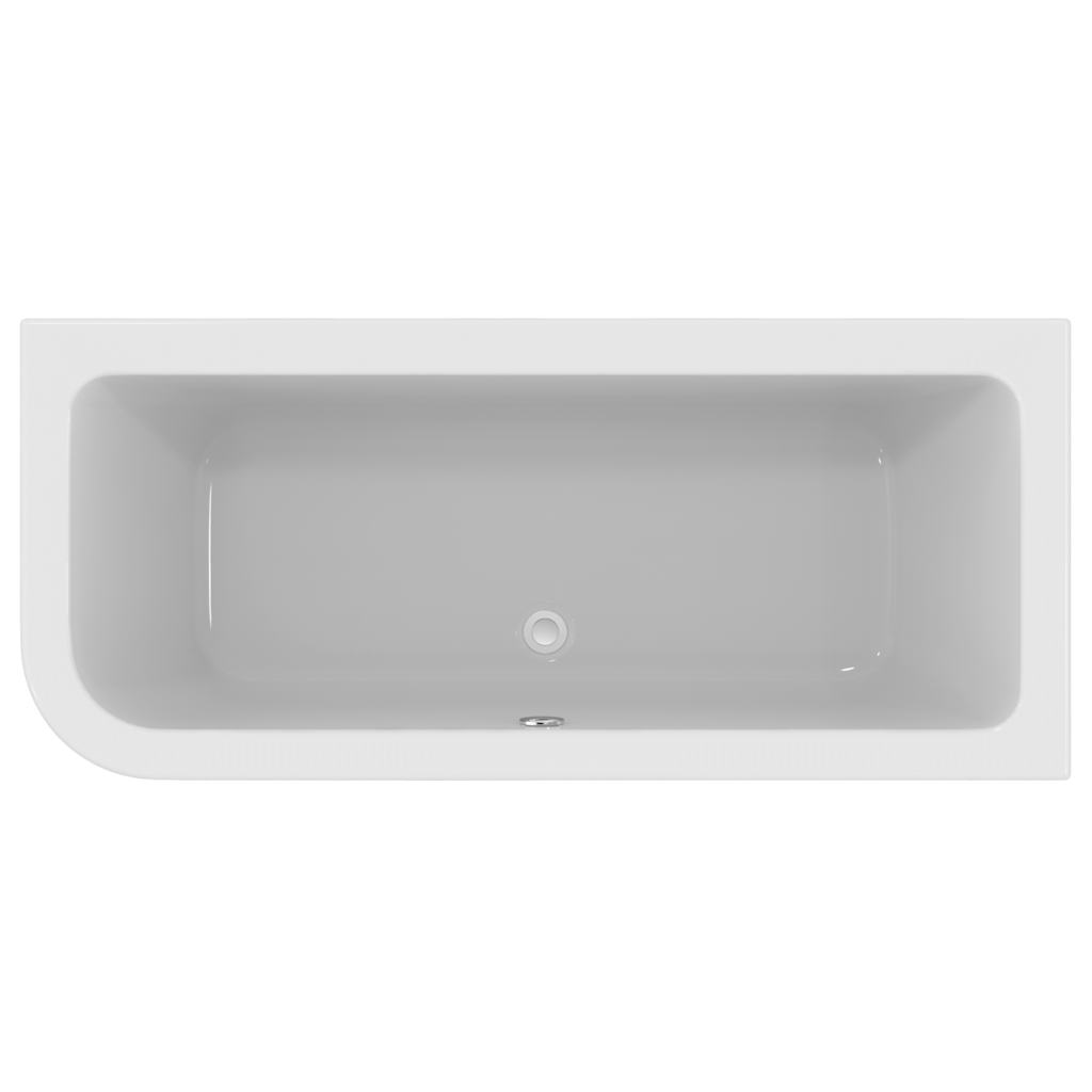 170 x 75cm Asymmetric Idealform Plus+ Bath Right Hand with no tapholes