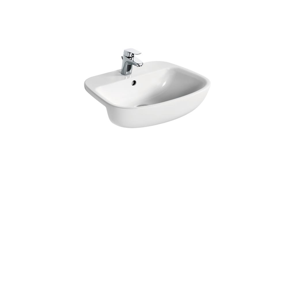 55cm semi countertop basin - one taphole
