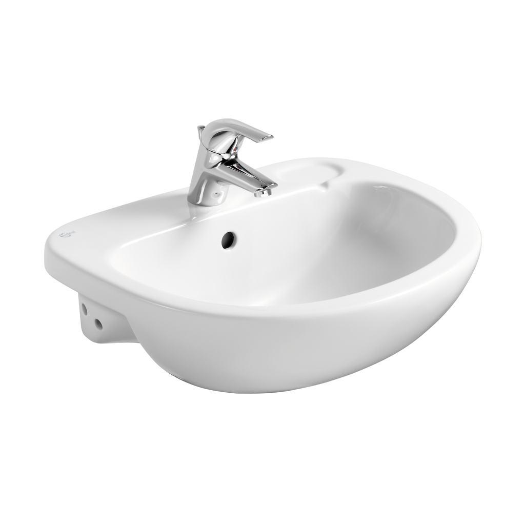 56cm Semi-Countertop Washbasin, 1 taphole