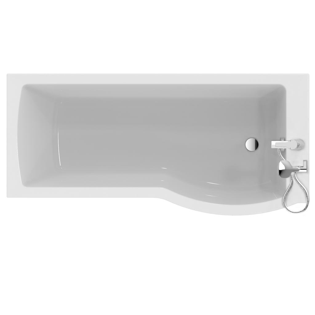 Arc 170cm Shower bath, right hand