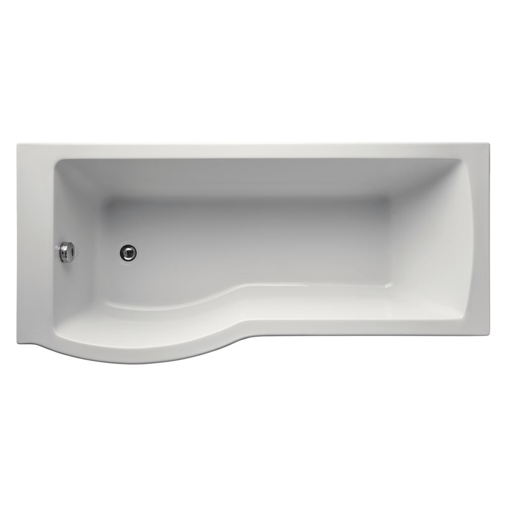 Arc 170cm Shower bath, left hand