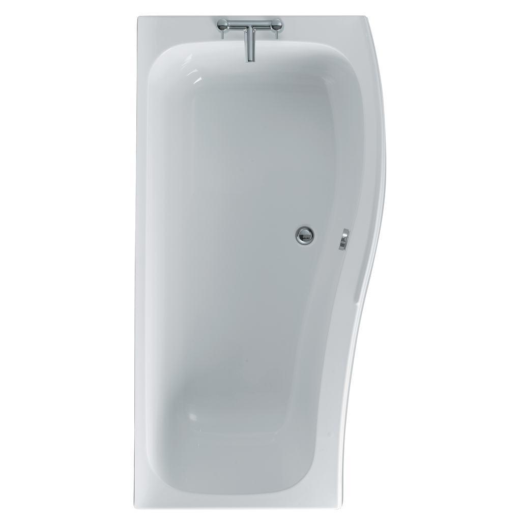 170cm Idealcast Shower Bath, Right Hand