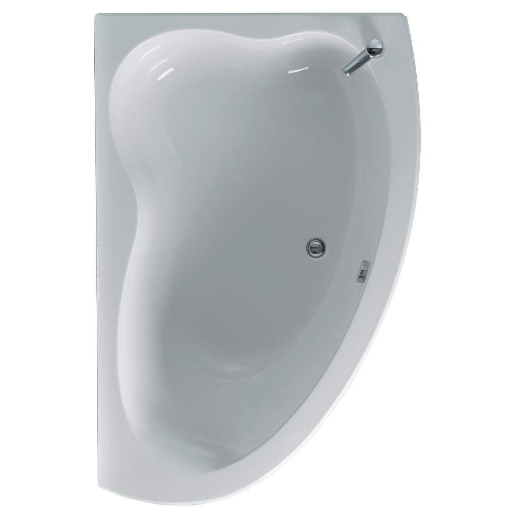 160x105cm Offset Corner Bath, Right Hand