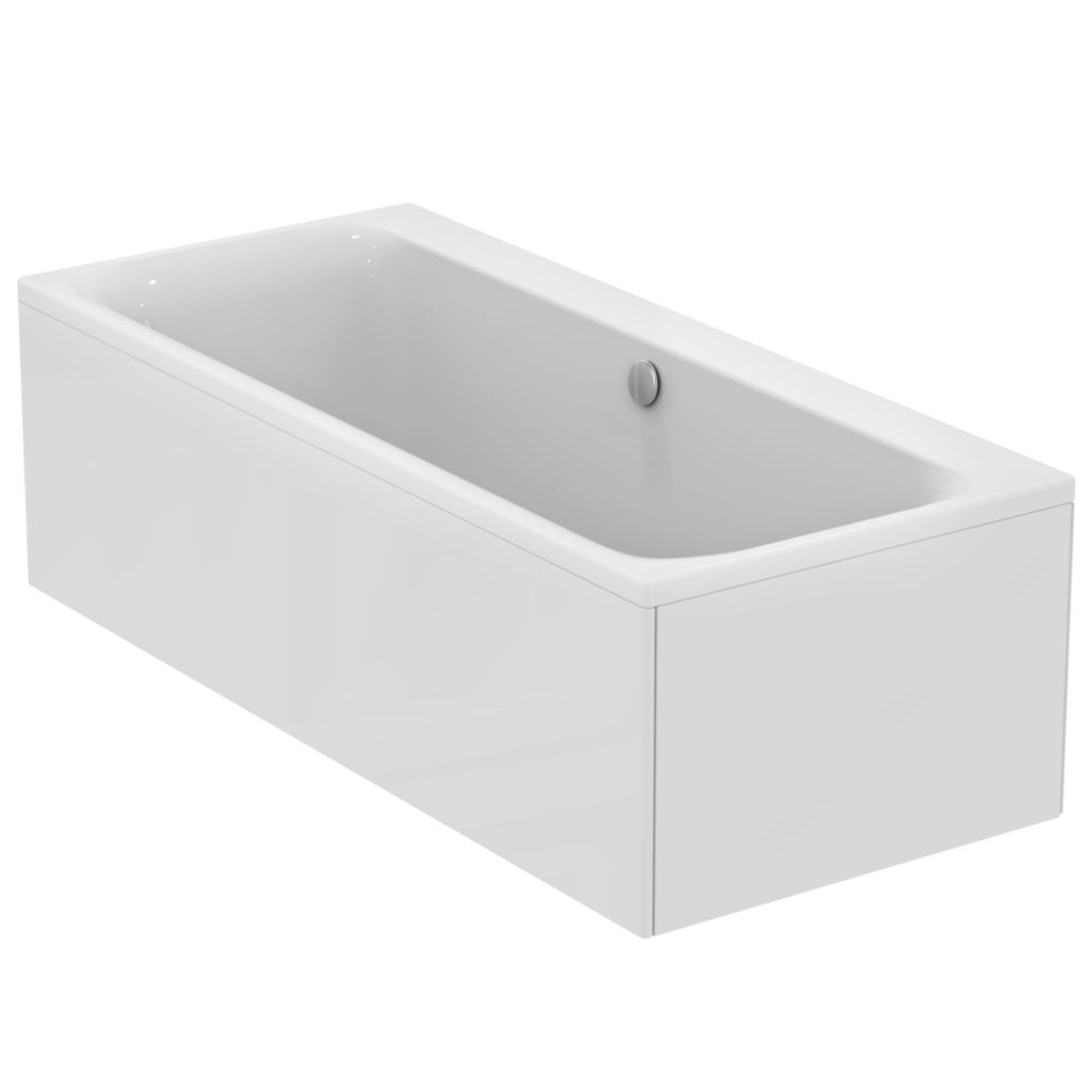 180x80 white double ended bath