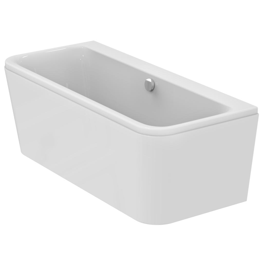 170x75 D-shape double ended bath