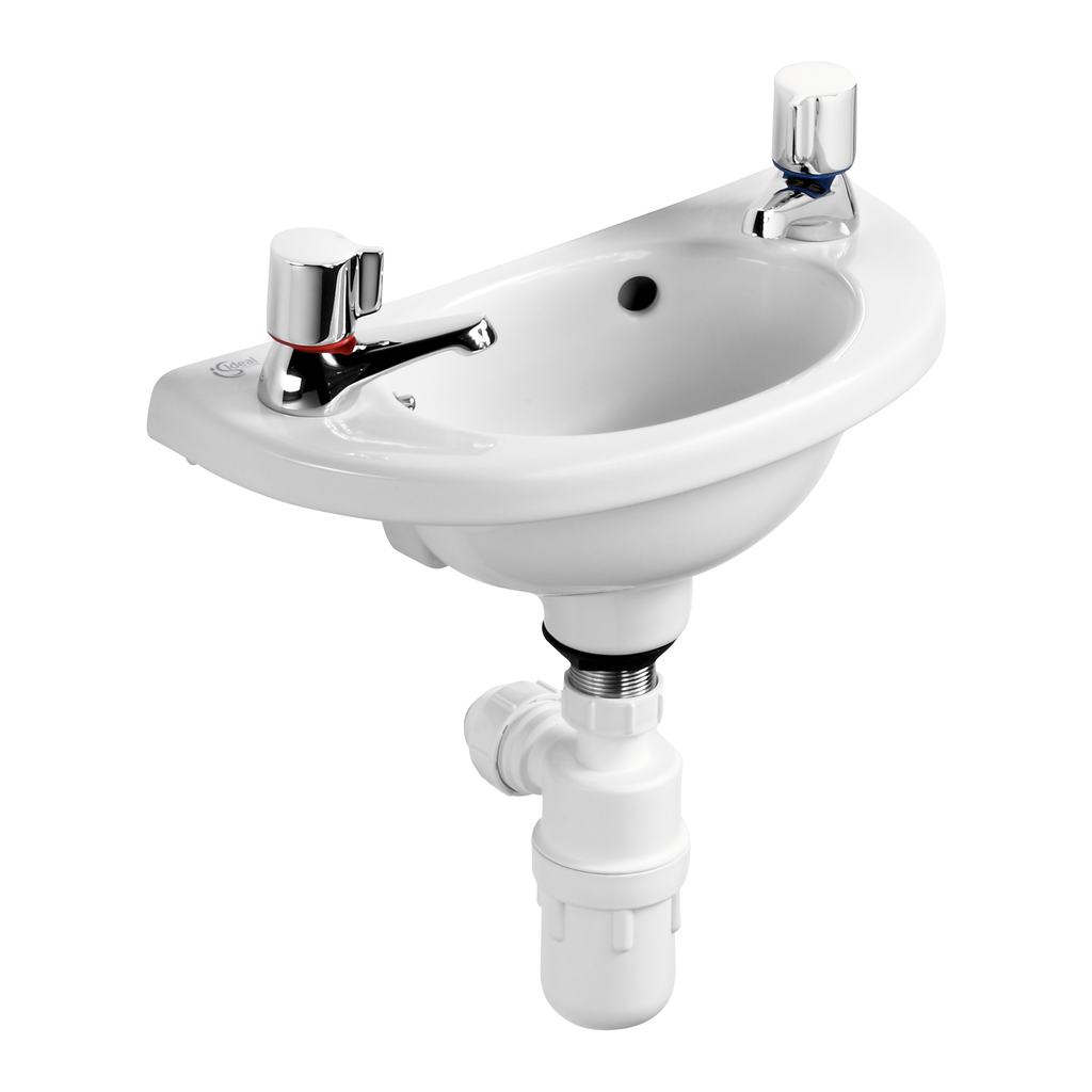 40cm Handrinse Washbasin, 2 tapholes