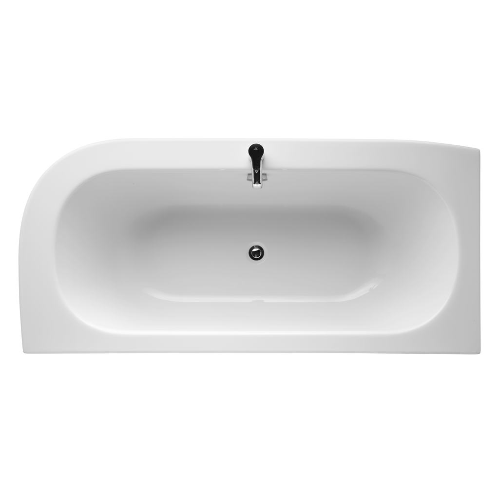 180cm Asymmetric Bath Double Ended Bath, Left Hand