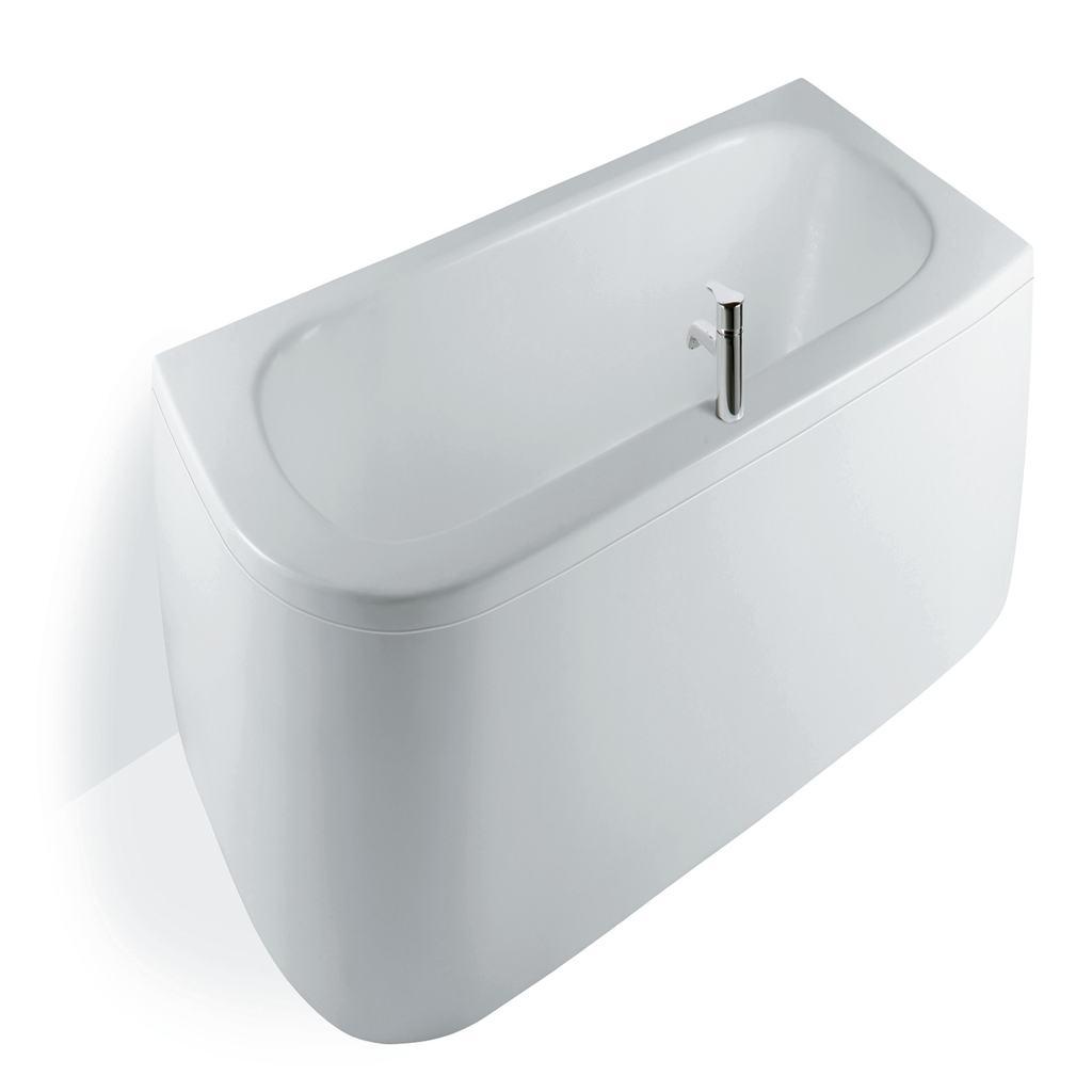 180cm Asymmetric Bath Double Ended Bath, Right Hand