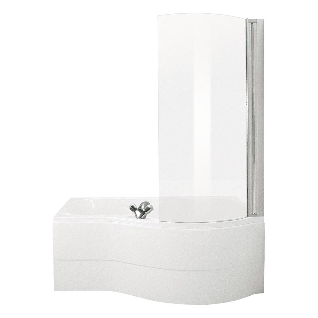 150x70cm Shower Bath, Right Hand