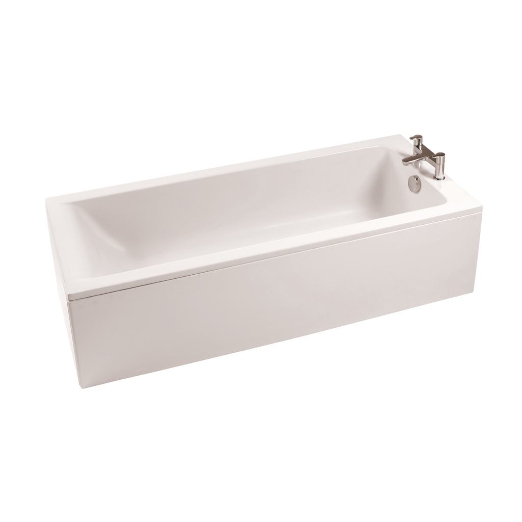 170x75cm Rectangular Bath, 2 tapholes