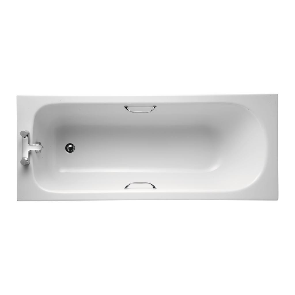 170x70cm Water Saving Bath with Grips, 2 tapholes