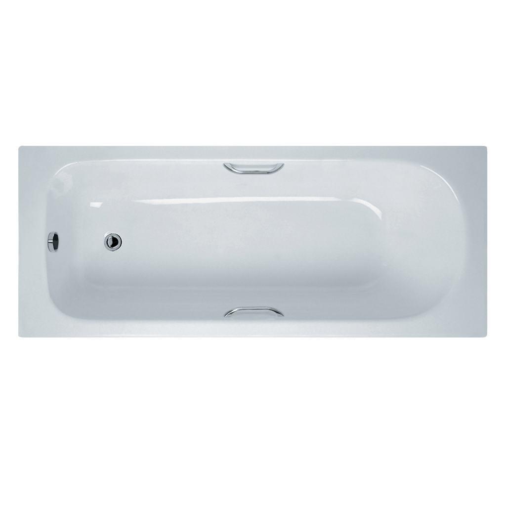 170x70cm Rectangular Bath with Handgrips, 2 tapholes