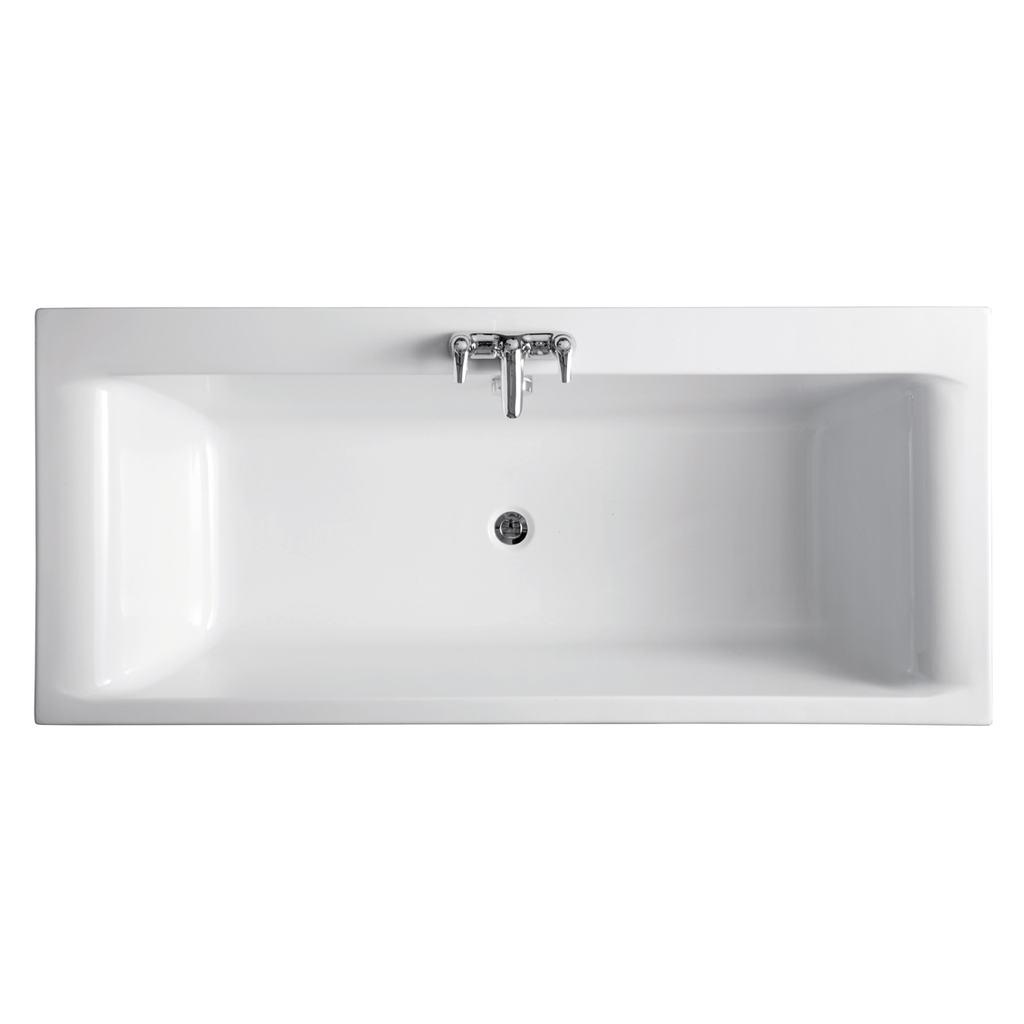 170x75cm Double Ended Bath, no tapholes
