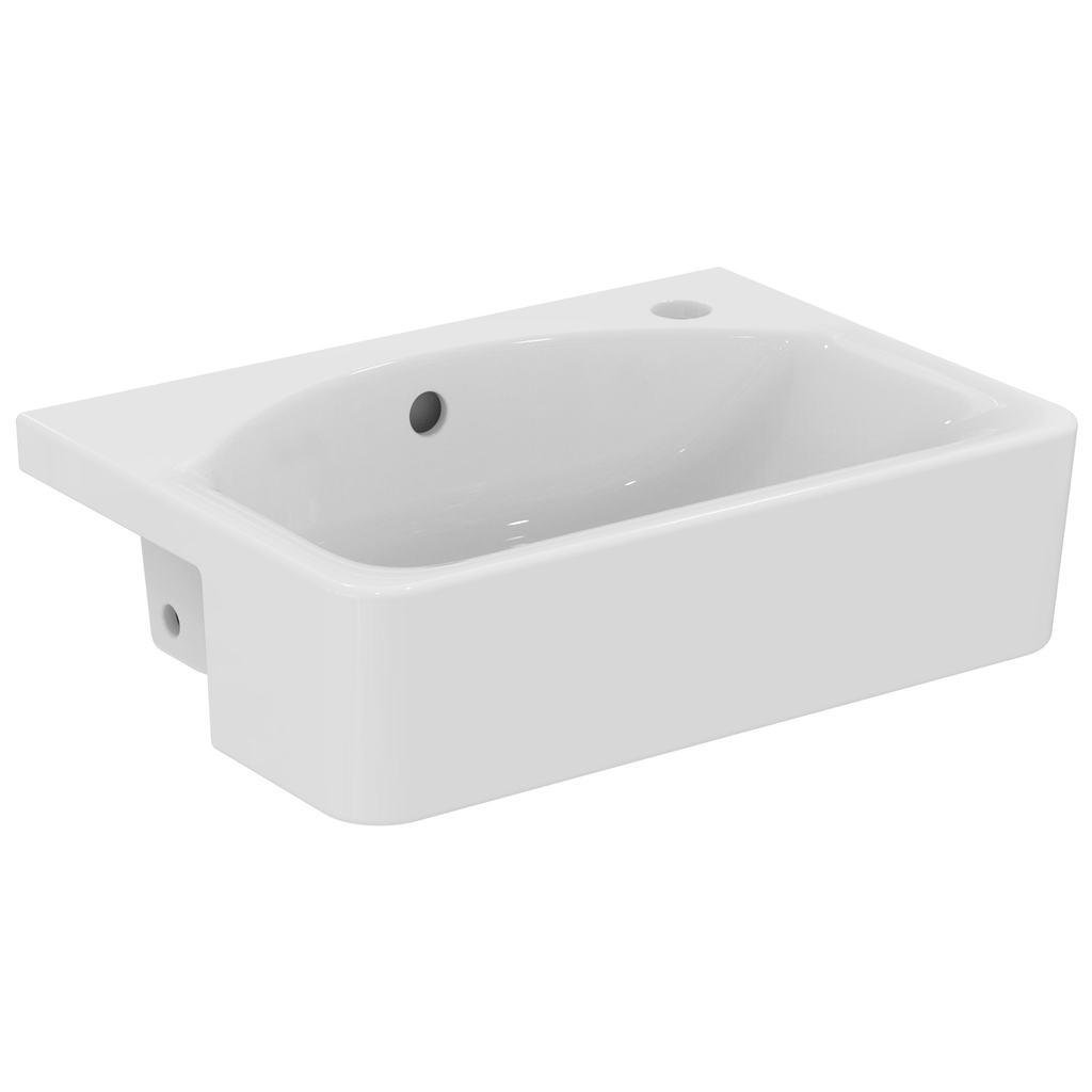 Cube 50cm Semi-Countertop Washbasin, RH, 1 taphole
