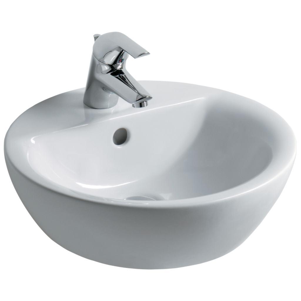 Dettagli del prodotto e8040 lavabo da appoggio 43 x 43 for Lavabo da appoggio