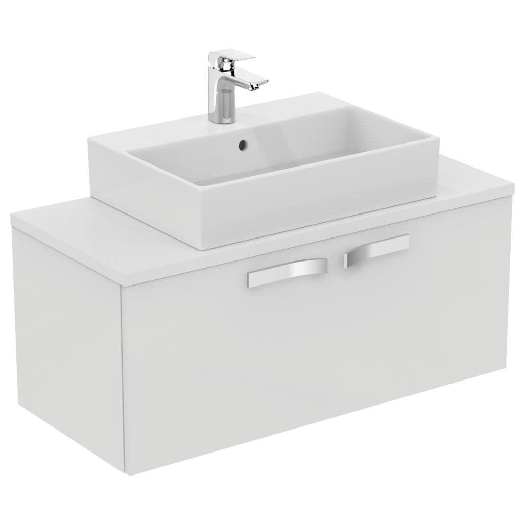 1000mm Wall Mounted Basin Unit, 1 drawer