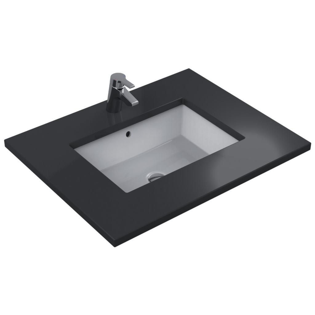 Ideal standard lavabo strada da incasso sottopiano 50x34 cm - Lavelli da bagno ...