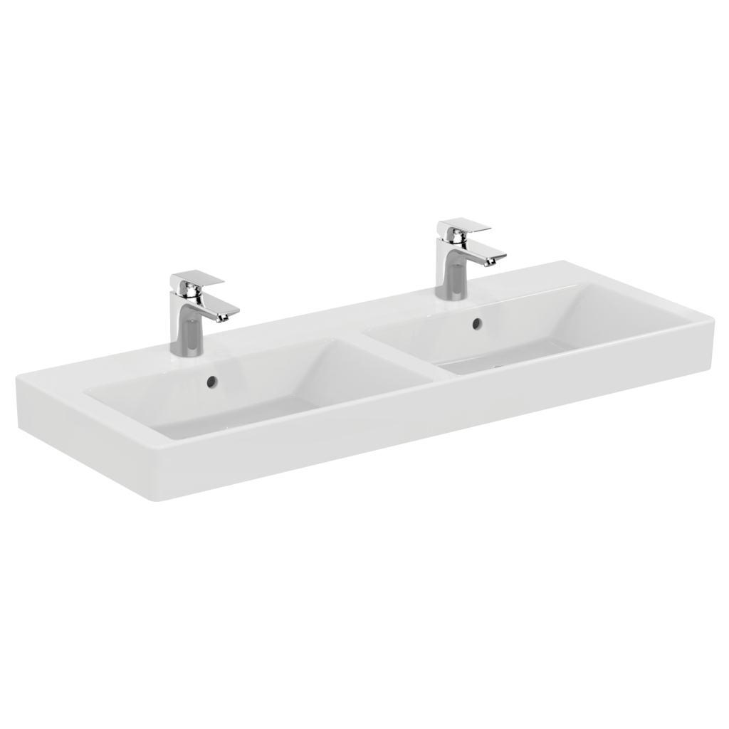 product details k0791 lavabo double 121 x 45 5 cm ideal standard. Black Bedroom Furniture Sets. Home Design Ideas