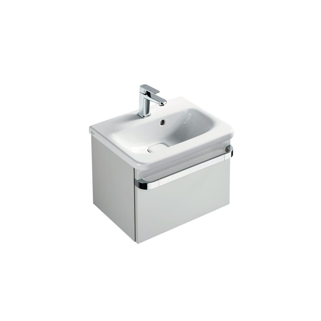 Basin unit 1 drawer 500mm gloss white