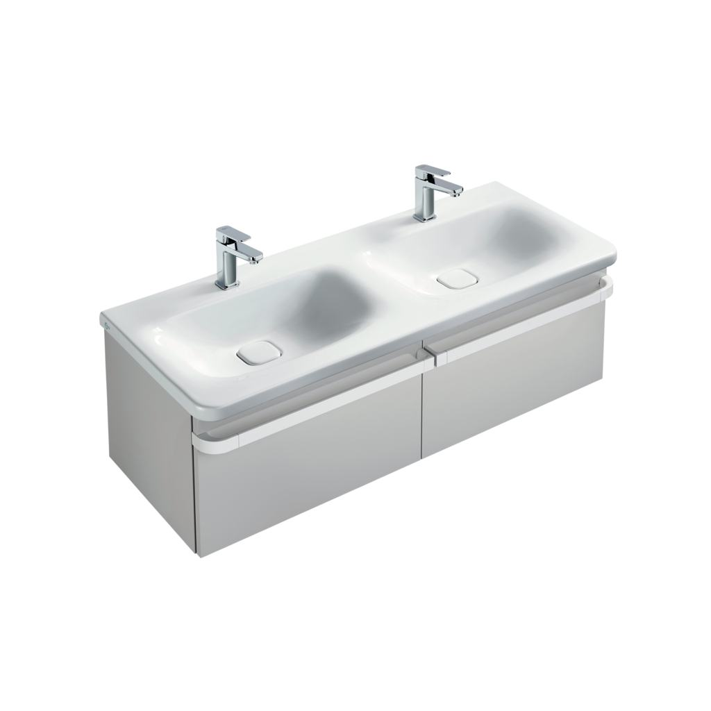 Basin unit 1 drawer 1200mm gloss white